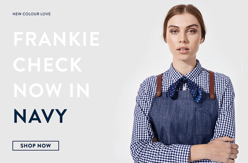 New Frankie Shirt in Navy!