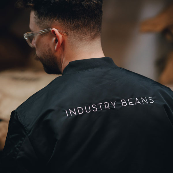 Industry Beans Barista Jacket Embroidery